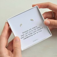 Friends Are Angels Earring Gift