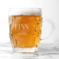 Personalised Wedding Dimpled Beer Glass