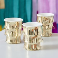 Fringed Gold Paper Cups