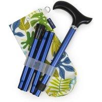 Navy Folding Walking Stick And Jungle Storage Bag