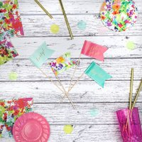 Floral Fiesta Cake Toppers