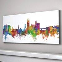 Derby City Skyline Art Print, White