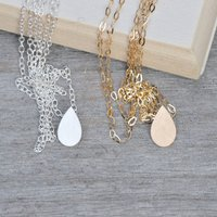 Raindrop Teardrop Necklace