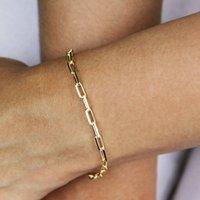Gold Filled Paperclip Bracelet, Gold