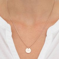 Grace Personalised Sterling Silver Disc Necklace, Silver