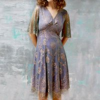 Special Occasion Dress With Softly Draped Sleeves
