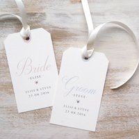 Personalised Bridal Party Hanger Label