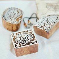 Fair Trade Handmade Wooden Printing Blocks