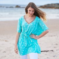 Aquamarine Luxury Silk Hand Dyed Kaftan