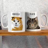 Personalised Cat Lover Gift Mug