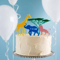 Personalised Safari Cake Topper Scene