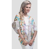 Silk Crepe De Chine Kimono, Hand Drawn Parrot Design