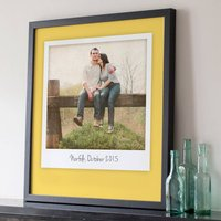 Giant Retro Style Personalised Photo Print, Mint Green/Mint/Green