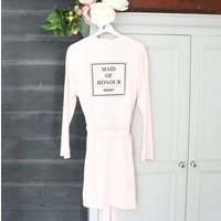 Maid Of Honour Personalised Wedding Robe