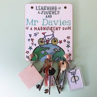 Personalised Key Hook For Teachers