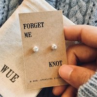 'Forget Me Knot' Silver Earrings, Silver