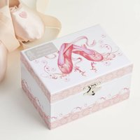 Personalised Ballet Shoes Music Box