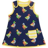 Baby Girls Navy Blue Duck Reversible Dress