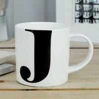 Alphabet Initial Mug: J