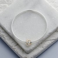 Mixed Gold Twisted Knot Bangle, Gold