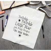 Personalised Twinkle Twinkle Teacher Tote Bag