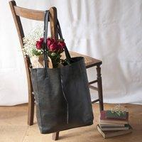 Black Soft Leather Tote Shopper