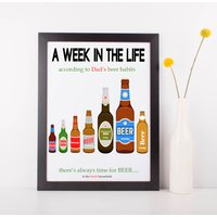 Dads Beer Habits Print