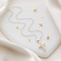 Girls Serenity Freshwater Pearl Cross Necklace