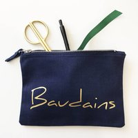 Personalised Handwritten Makeup And Accessories Bag