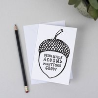 Giant Acorn Greeting Card