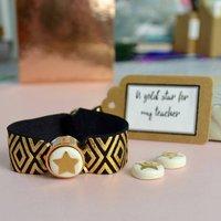 Gold Star Teachers Bracelet, Gold