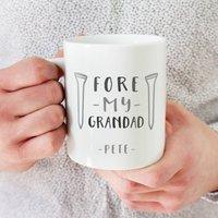 Personalised Fore My Grandad Golf Mug
