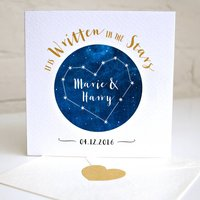Personalised Wedding Star Constellation Card