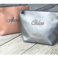 Personalised Metallic Make Up Bag Or Purse