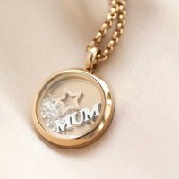 Personalised Mum Floating Star Locket