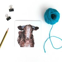 Dairy Shorthorn Greetings Card