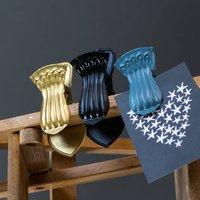 Vibrant Clips Or Hooks, Gold/White/Black