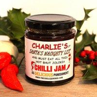 'Naughty List' Personalised Chilli Jam