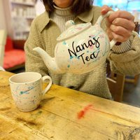 Personalised Hand Painted Splattered Teapot