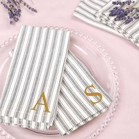 Set Of Four Cotton Personalised Fabric Napkins