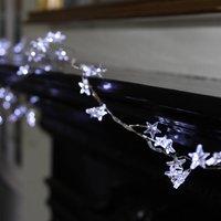 Silver Star LED Fairy Lights