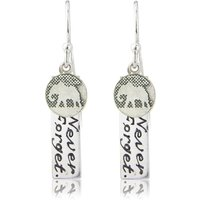 Never Forget Silver Elephant Earrings, Silver