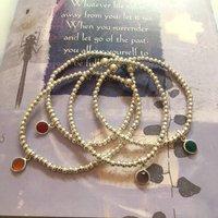 Sterling Silver Gem Stacking Friendship Bracelet, Silver