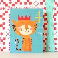 Mini Age Four Tiger Card