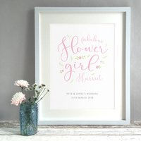 Personalised Flower Girl Thank You Gift Print