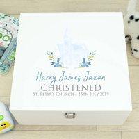 Luxury Church White Wooden Christening Memory Box