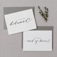 Will You Be My Bridesmaid? Card Calligraphy Font