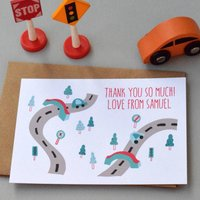 12 Personalised Forest Road Thank You Cards