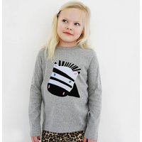 Baby And Child Zebra Top Personalised, Navy/Red/Pink