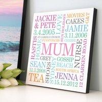 Personalised Mum Word Art